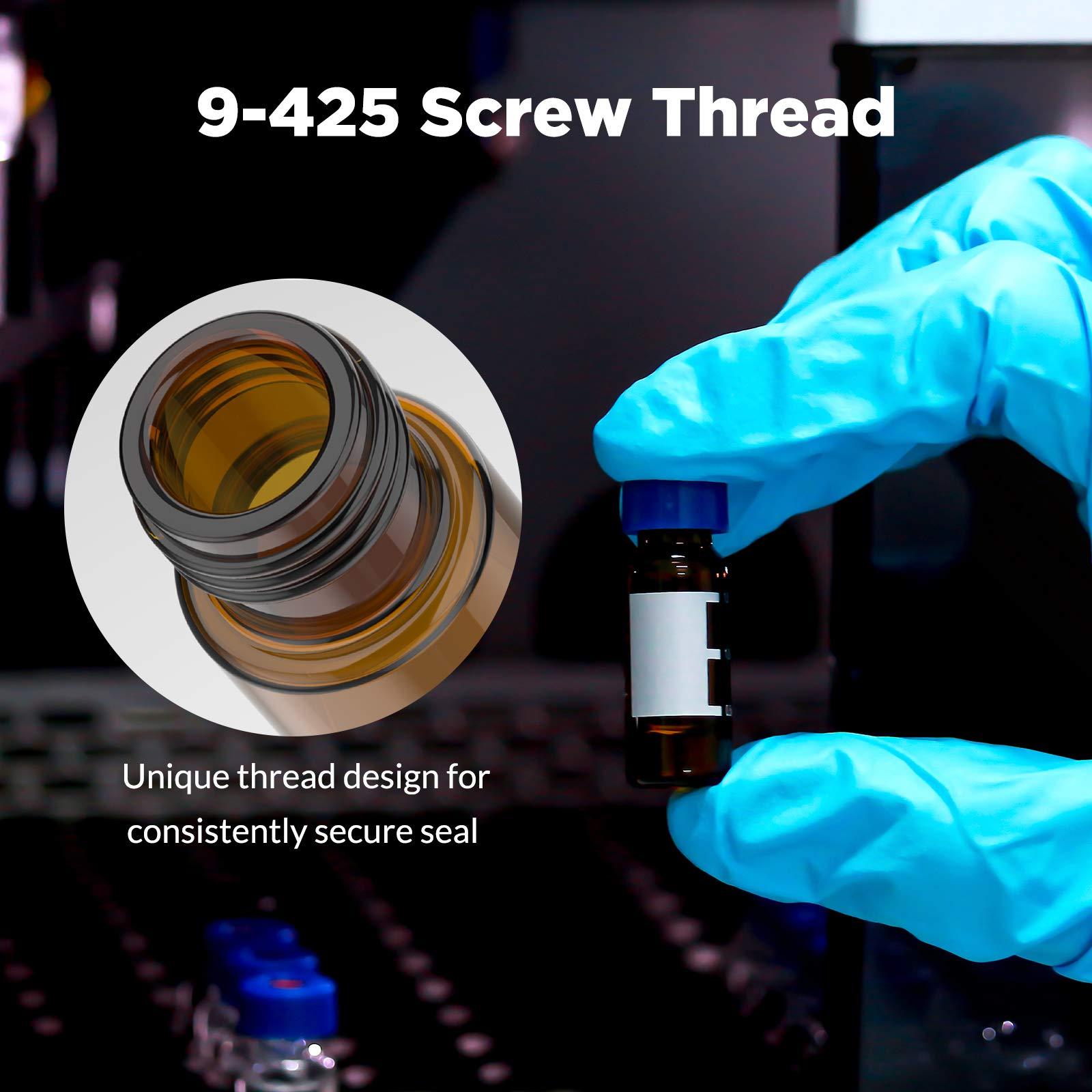 2ml autosampler vialChina 2ML 9-425 amber hplc vials with screw thread supplier